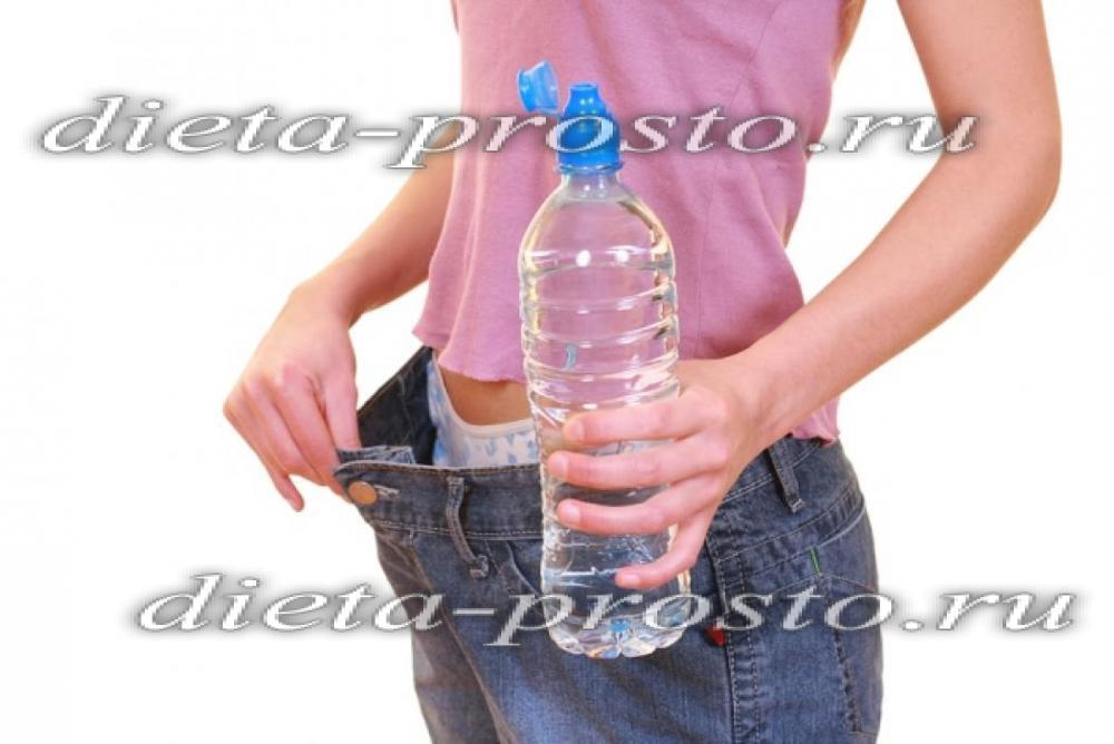 как похудеть за неделю на водной диете
