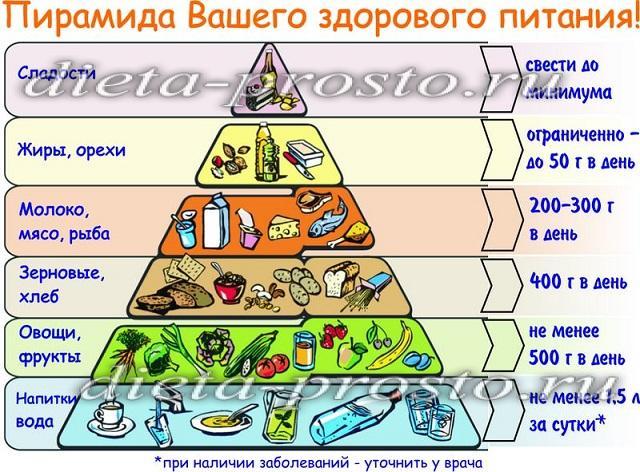 Правильное питание правила и основы