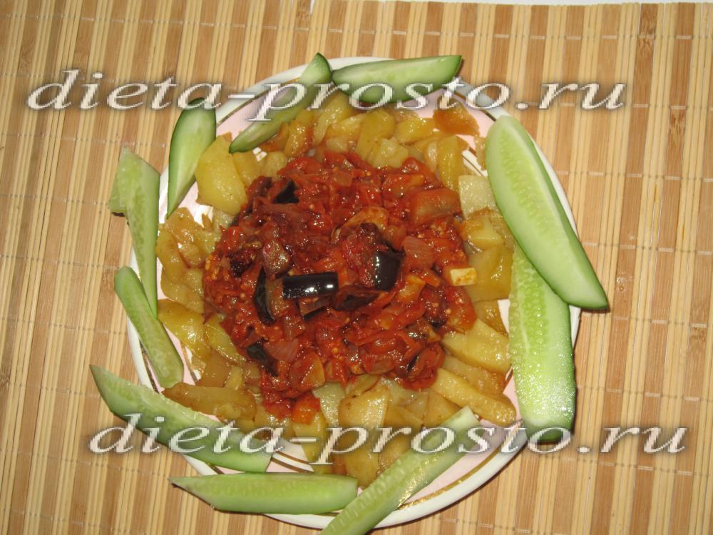 Рагу с молодой картошкой и кабачками и мясом фото рецепт