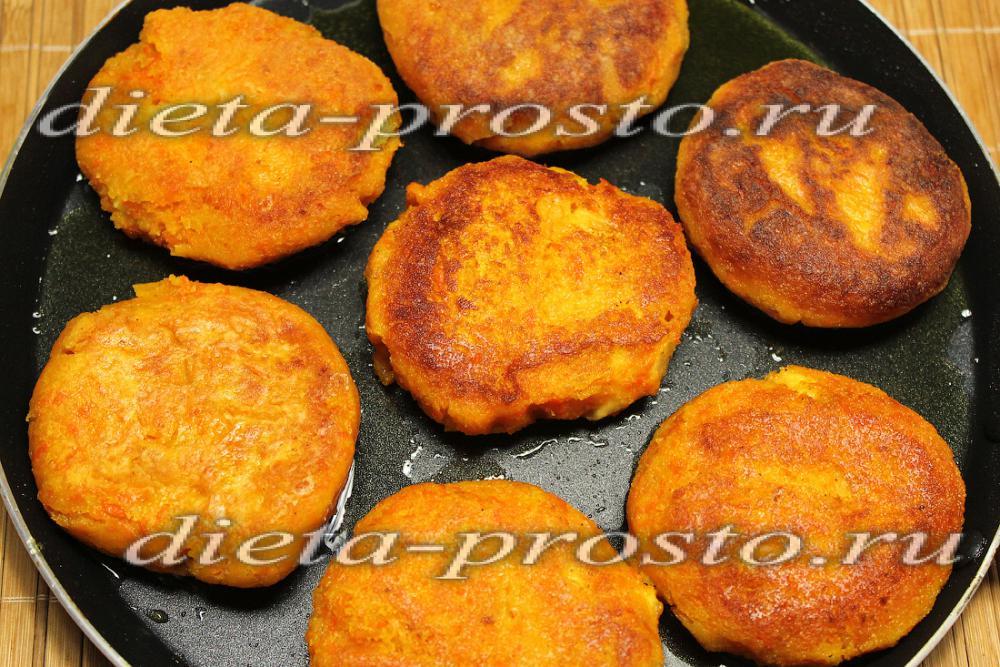 котлеты из моркови с творогом рецепт