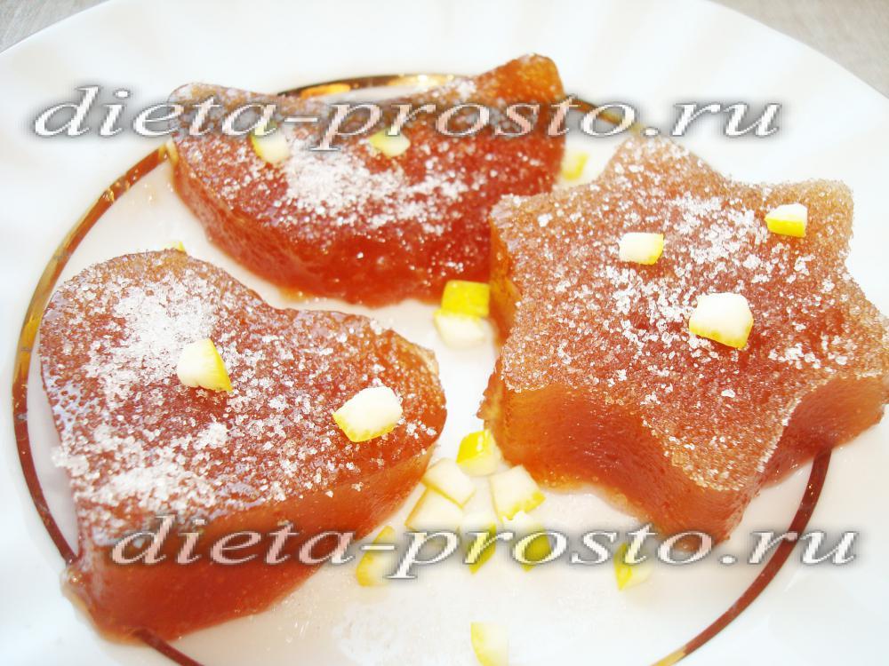 Рецепт яблочный мармелад в домашних условиях
