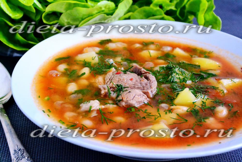 рецепт суп с фасолью и томатом рецепт