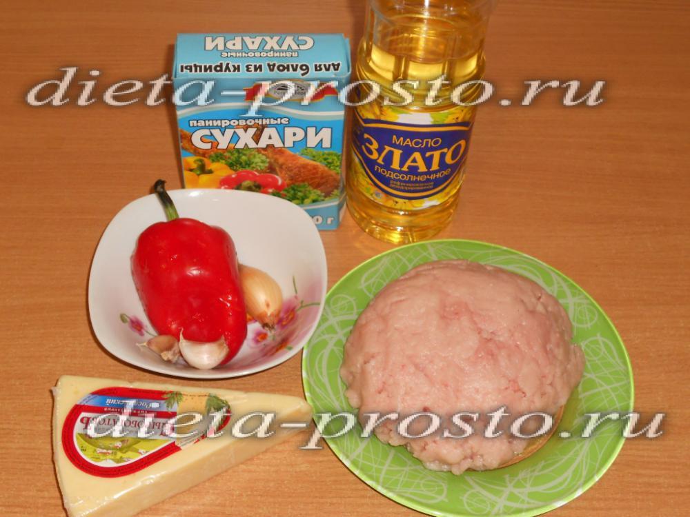 рецепт куриных котлет из фарша внутри масло с фото