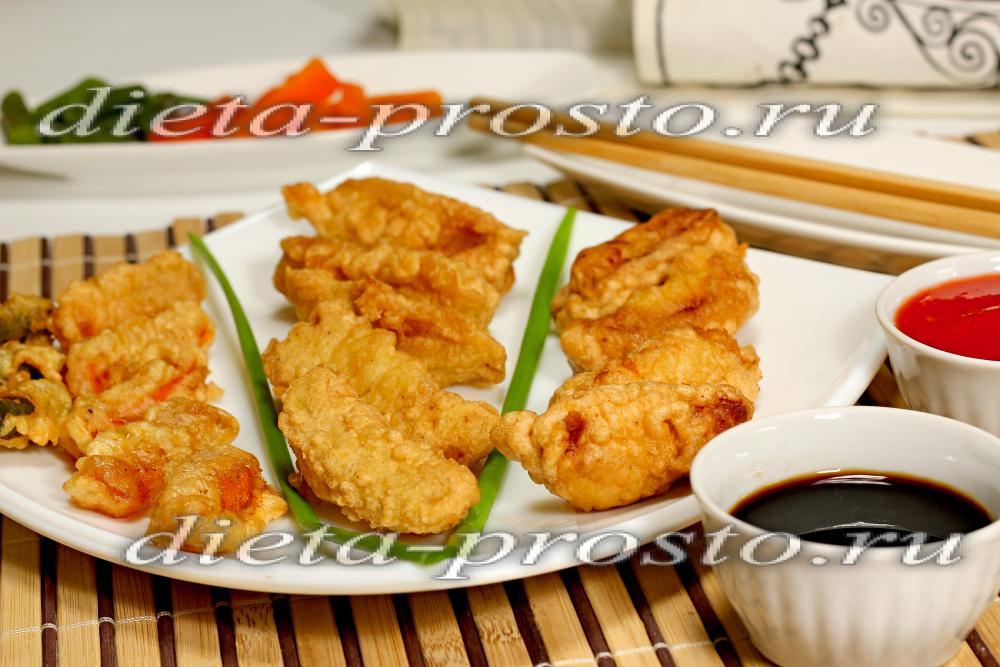 Рецепт темпура для курицы