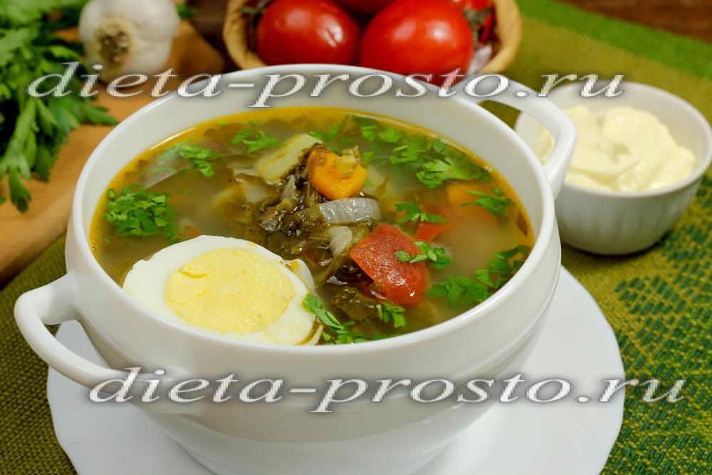 Щавелевый суп с яйцом: рецепт