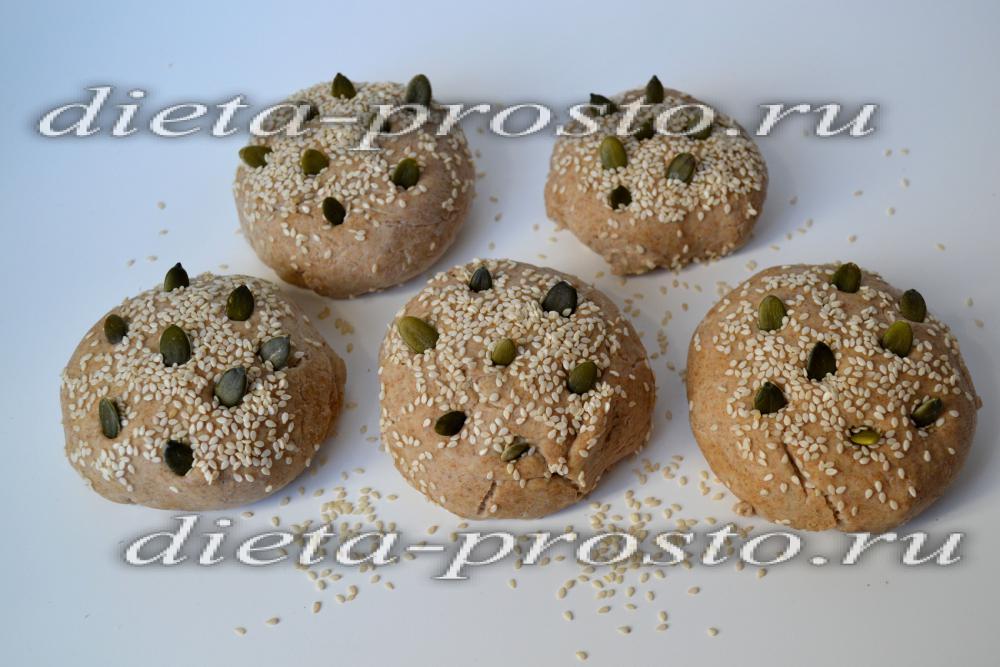 булочки с кунжутом в духовке рецепт