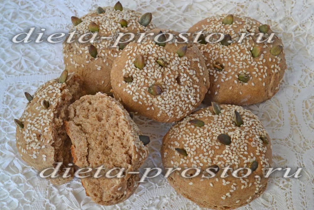 рецепт булочек из ржаной муки в духовке