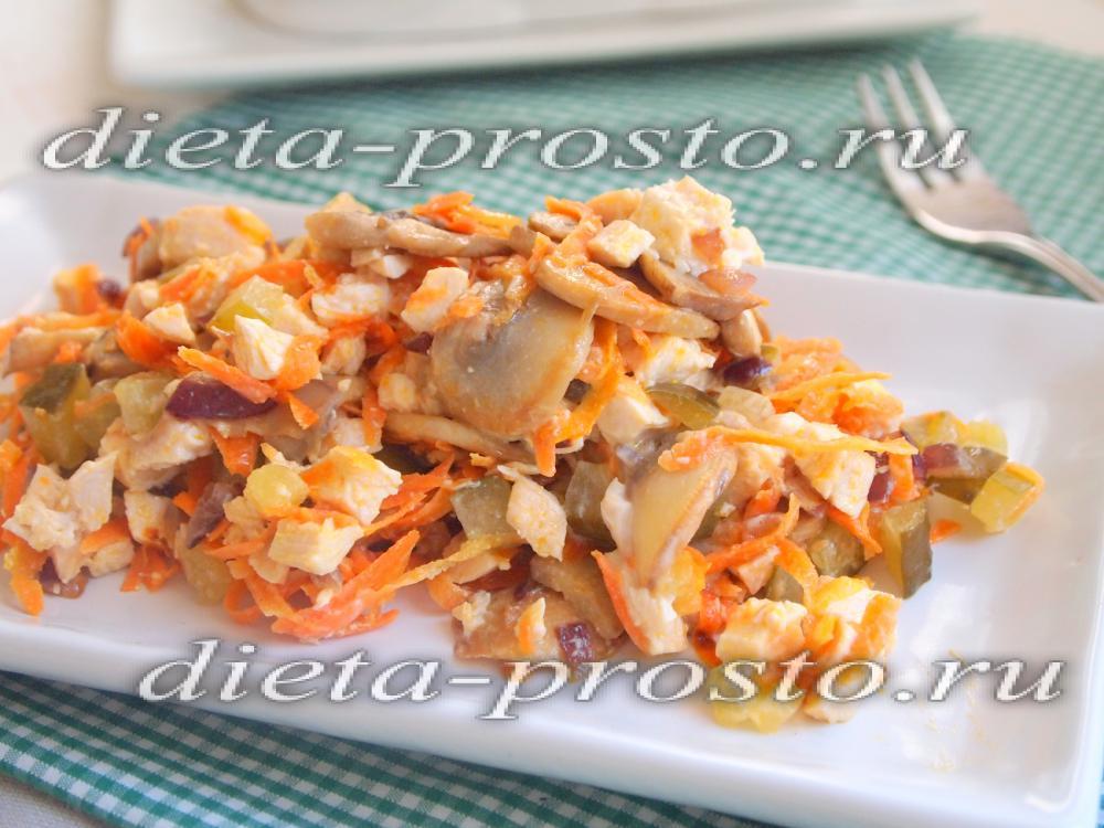 рецепт курицы с грибами для диеты