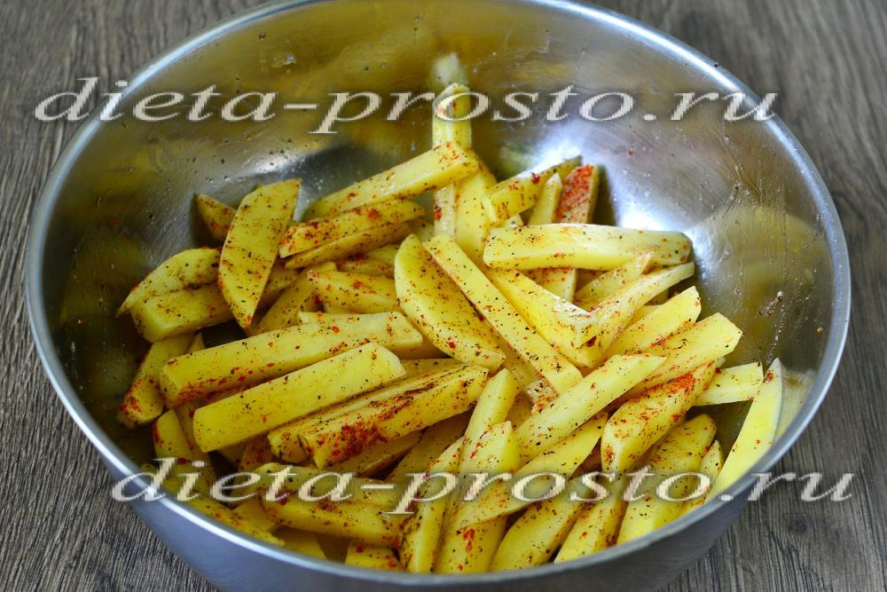 Диетическая картошка в духовке рецепт с фото