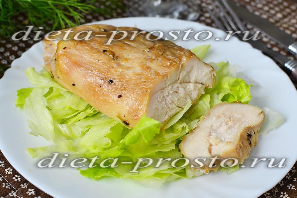 Низкокалорийный куриного филе в духовке