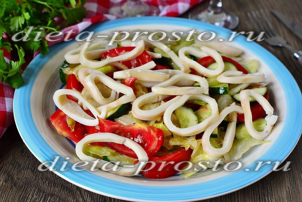 Кальмары простые салаты рецепты приготовления 178