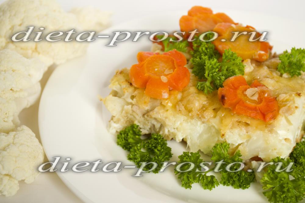 Гратен из цветной капусты с курицей рецепт