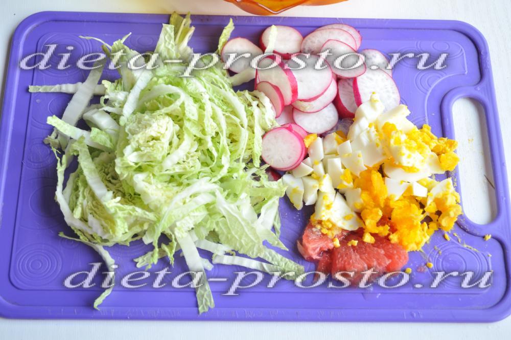 рецепты салатов для похудения с указанием калорий