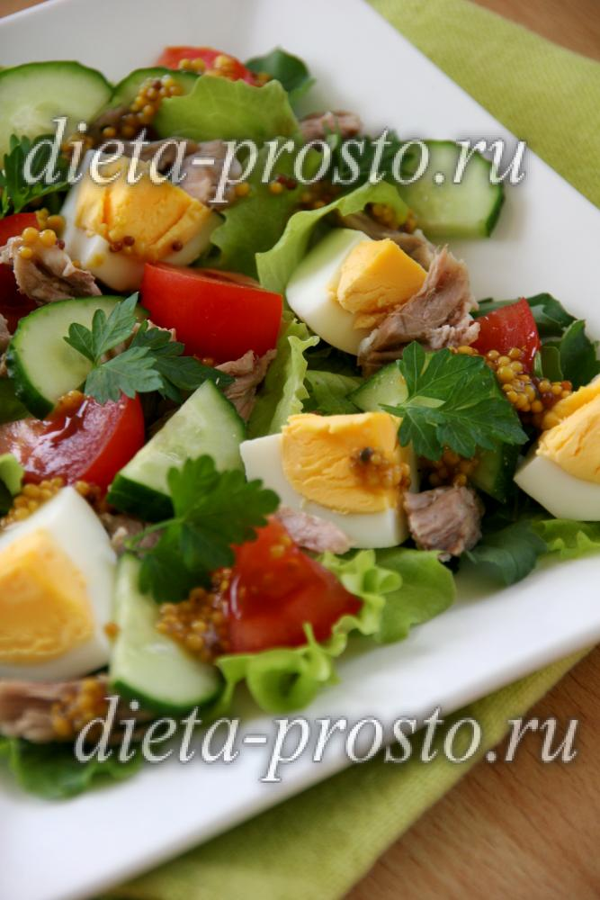 Салат на праздничный стол без майонеза рецепты