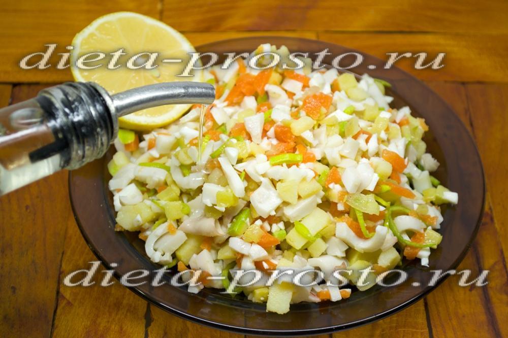 Рецепты салатов без майонеза с пошаговым фото