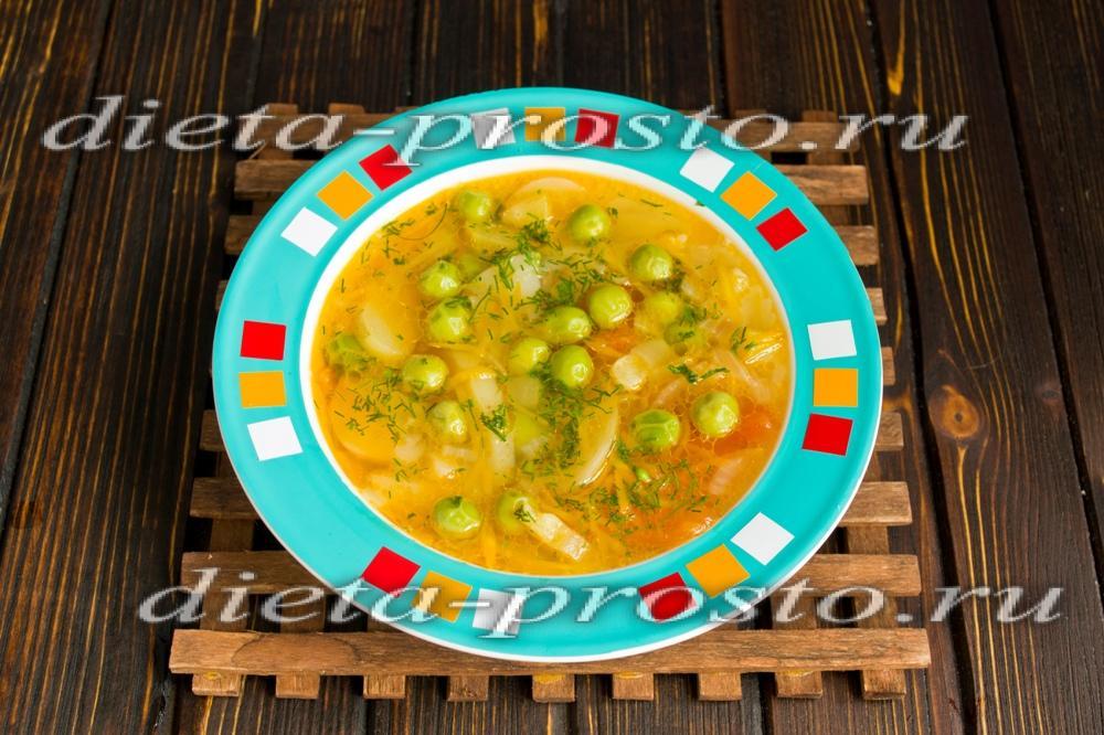 Суп с зелёным свежим горошком рецепт