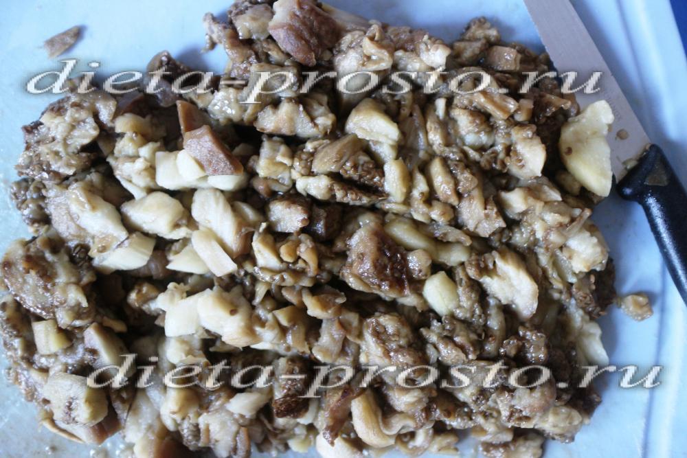 рецепт салата из печеного баклажана