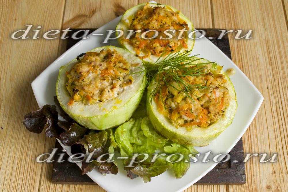 Рецепт с кабачками по диете дюкана