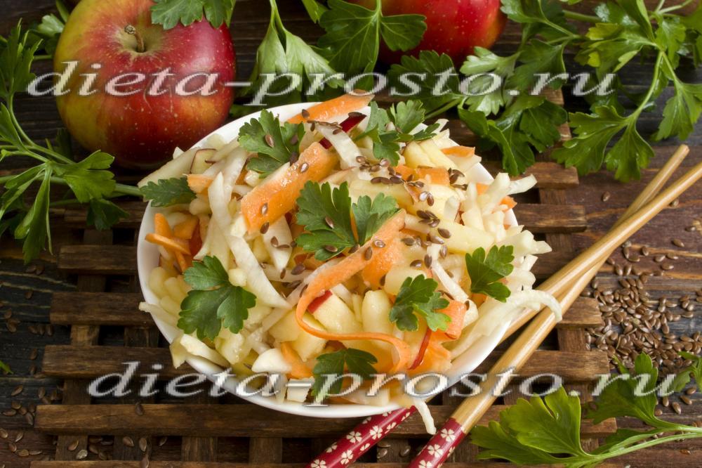 Простой салат с редькой фото