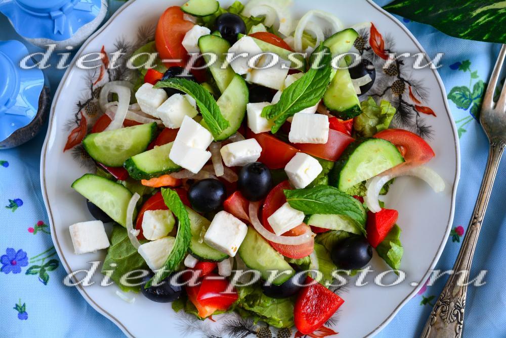 Греческий салат фото классика
