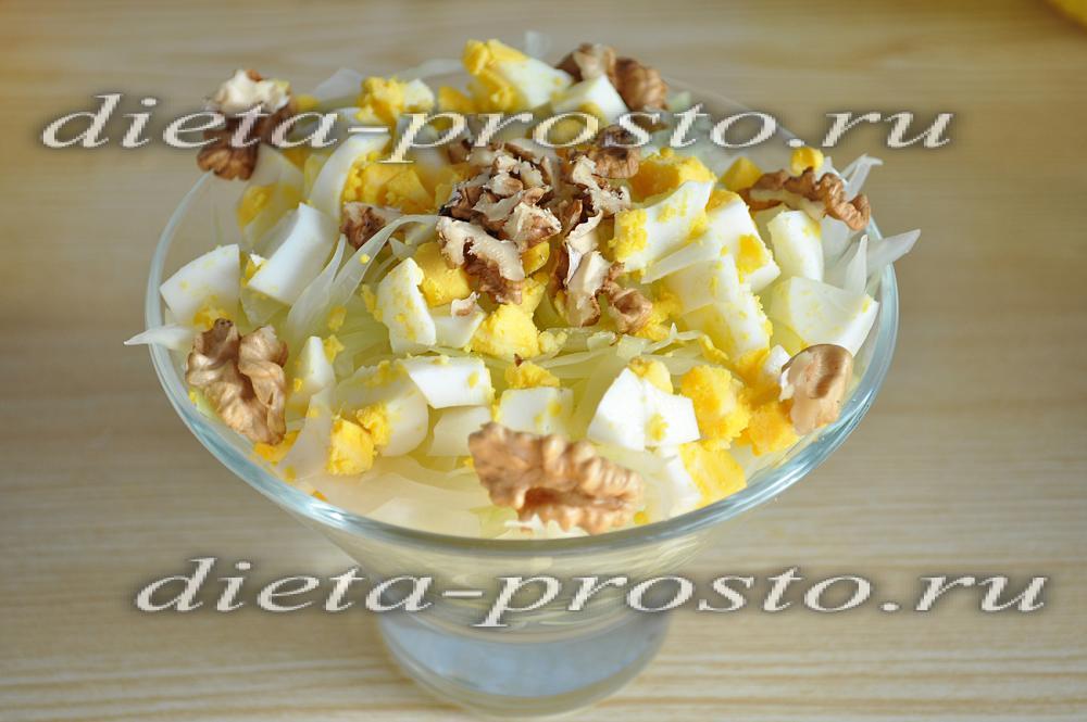 салат из капусты белокочанной рецепты и яиц