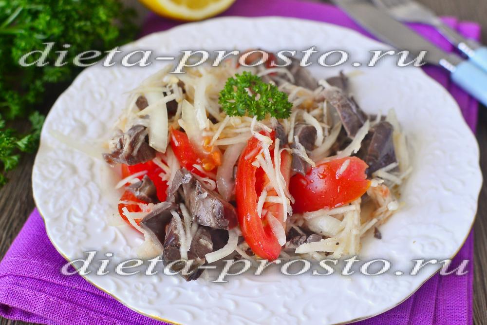 Китайский салат с мясом