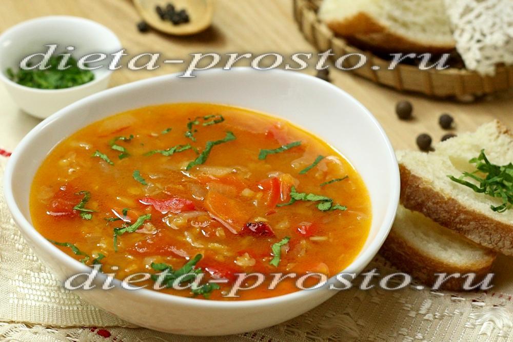 Суп из чечевицы постный рецепт с фото