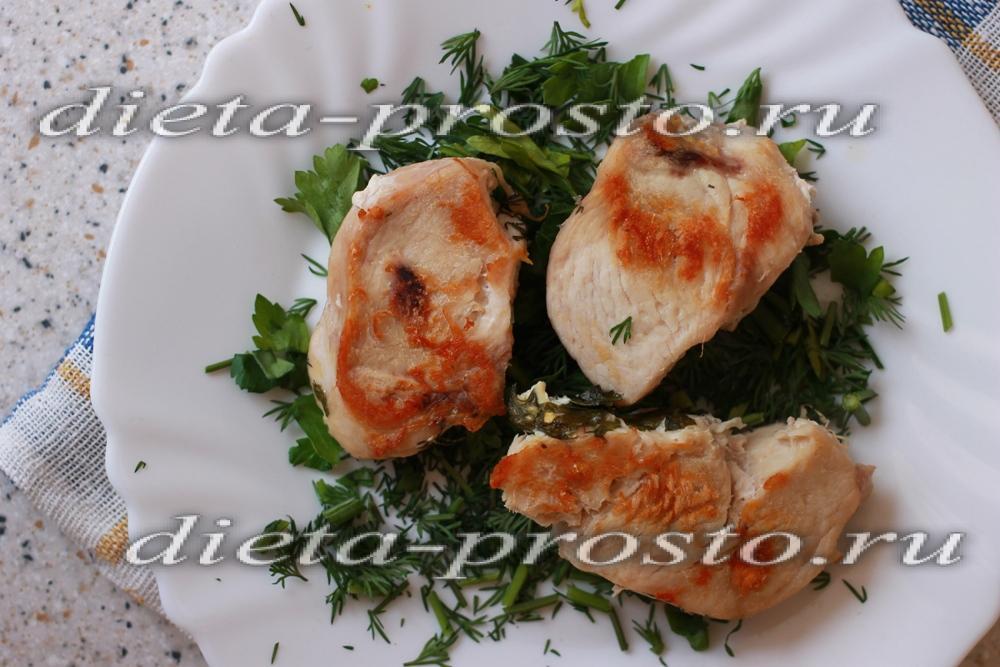 Калорийность куриного филе запеченного