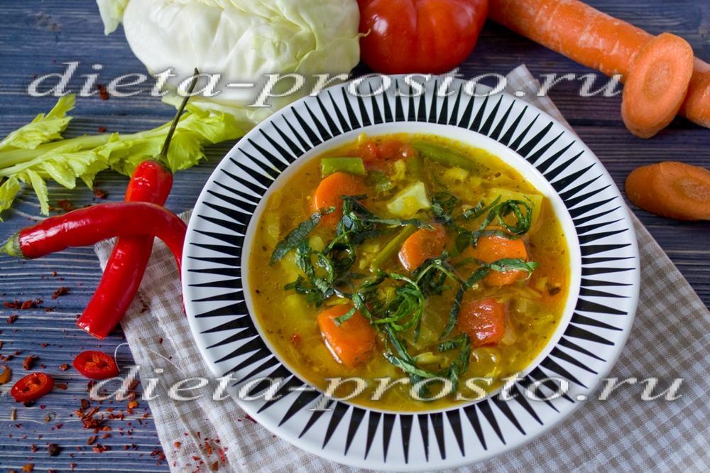 Диет блюда из курицы с овощами