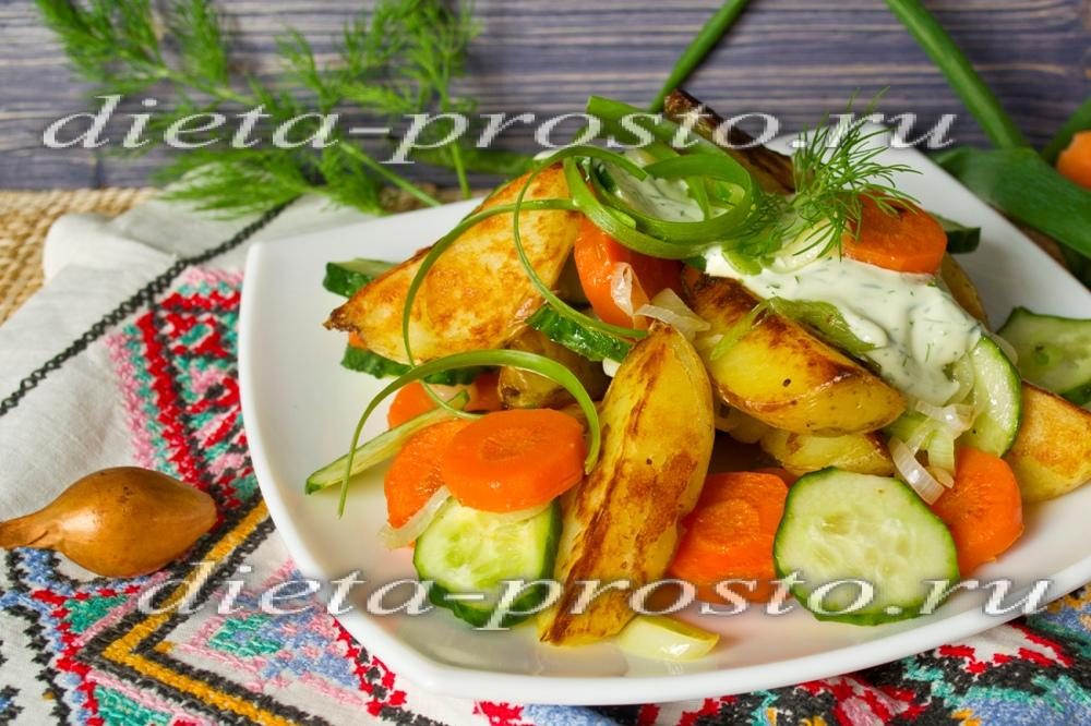 Калорийность салат с картошкой