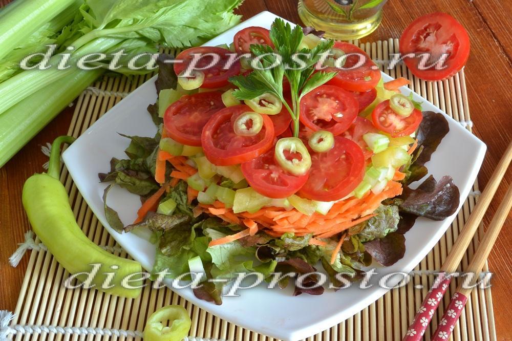 Овощной салат слоями рецепт с фото пошагово
