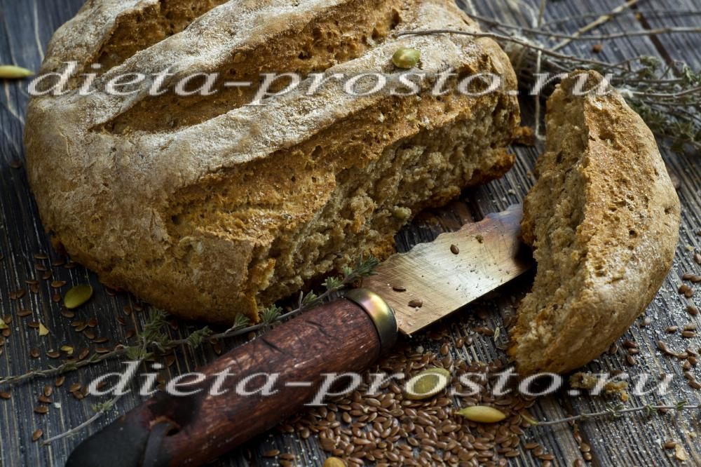 Диетический ржаной хлеб рецепт в духовке