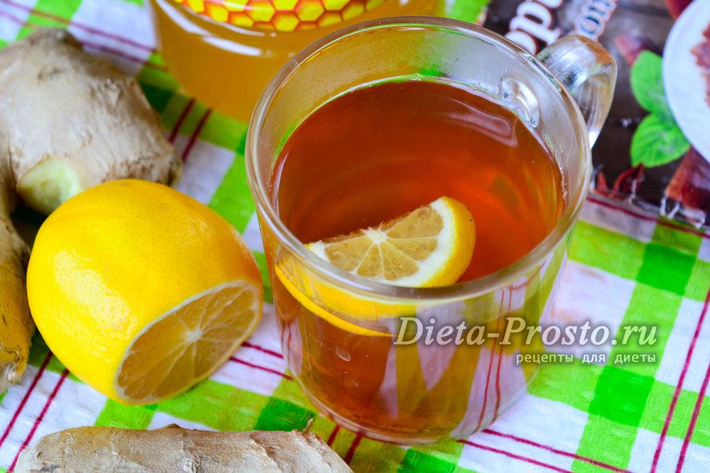 Коктейль для похудения лимоном медом