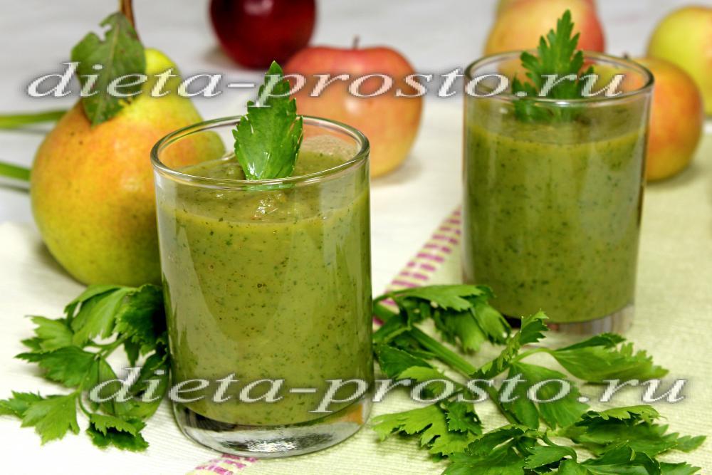 зеленый коктейль из сельдерея рецепт