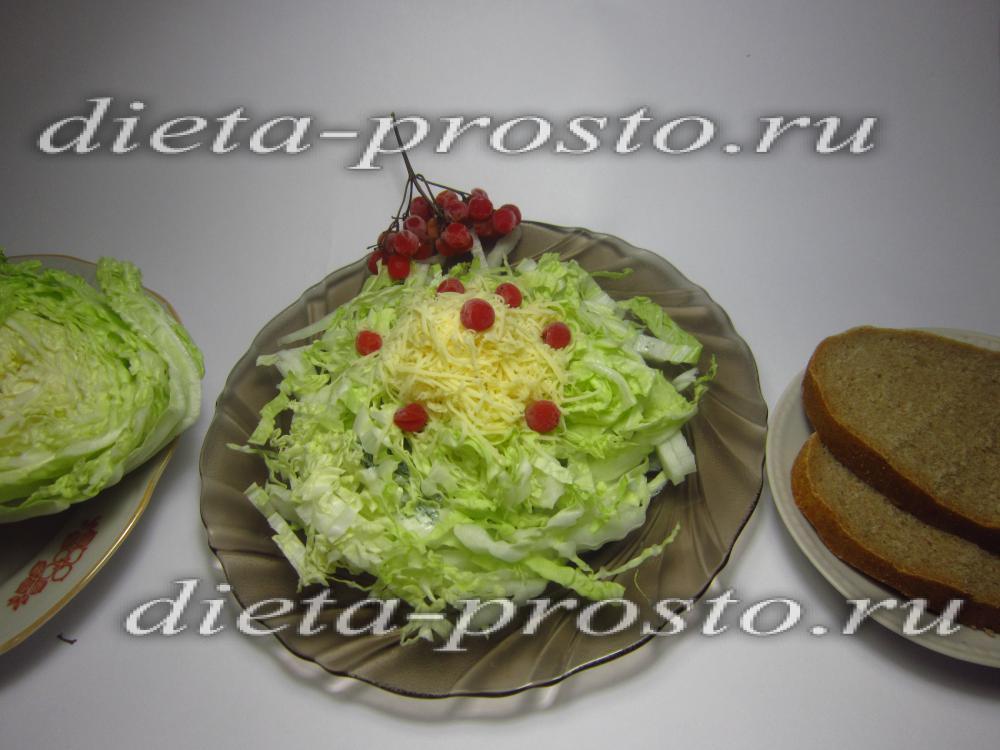 рецепты салатов с пекинской капустой и морковью