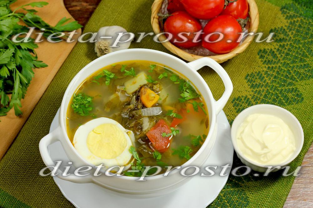 щавелевый суп рецепт с курицей и яйцом в мультиварке рецепты