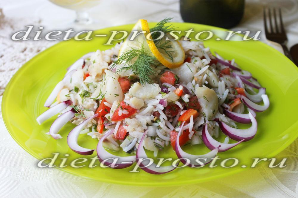 Салат рыбный рисом рецепт с