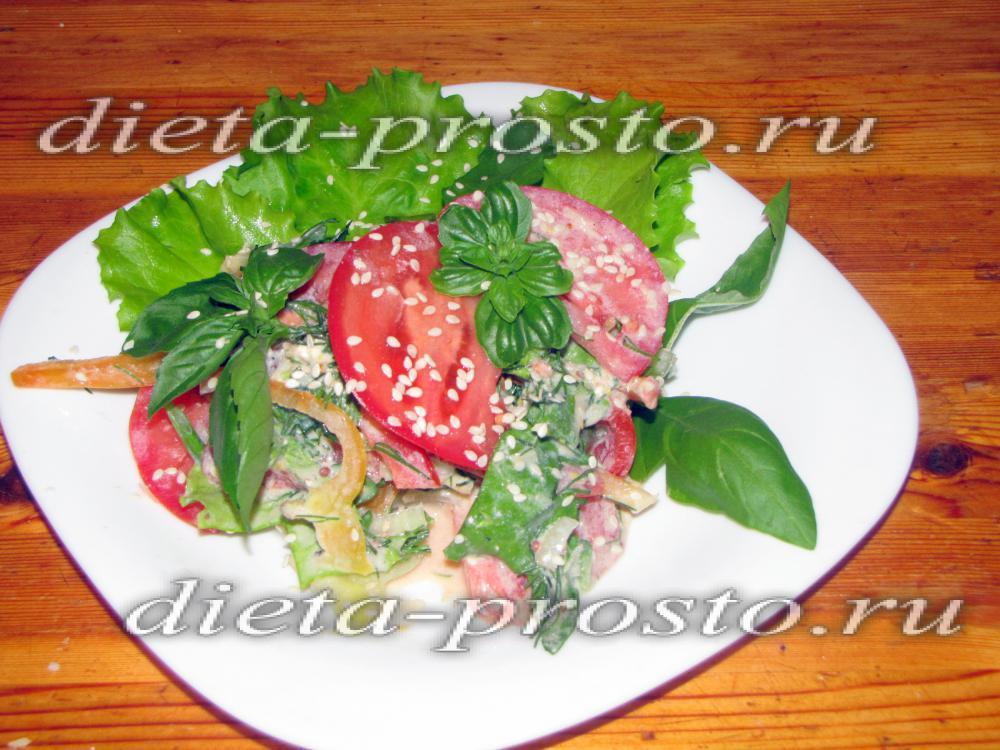 салаты только из овощей рецепты с фото