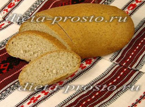Ржано-пшеничный хлеб с отрубями