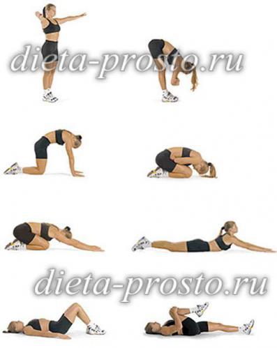 Упражнение для укрепления живота