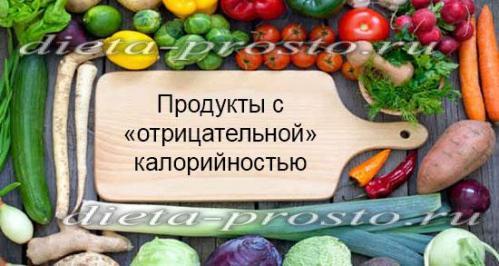 продукты с отрицательной калорийностью для похудения