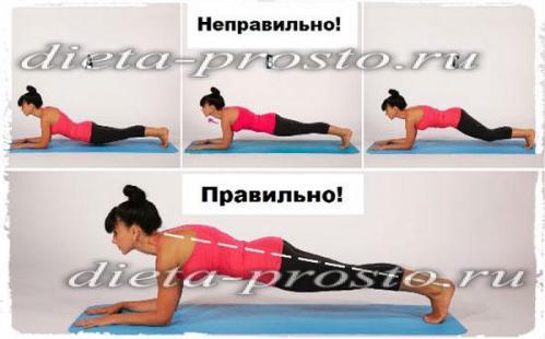 Упражнение планка: как