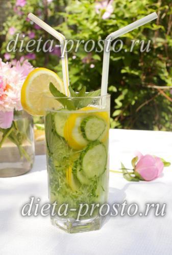 Украшаем лимоном и огурцом