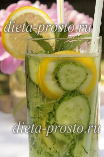 напиток из огурца и лимона