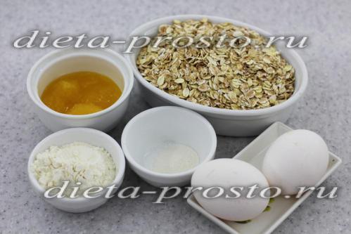Овсяное печенье простой рецепт без масла