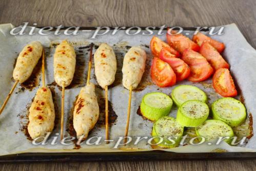 Люля-кебаб из курицы в домашних условиях, рецепт с фото