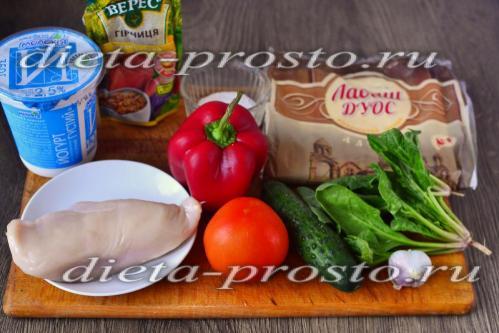 Правильное питание шаурма рецепт