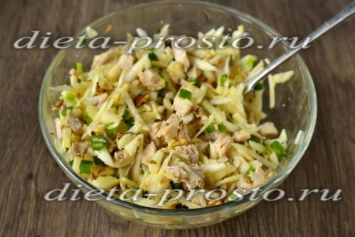 Салат из отварной индейки рецепт с