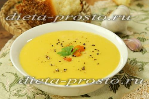 Суп-пюре из кабачков и картофеля (постный рецепт)
