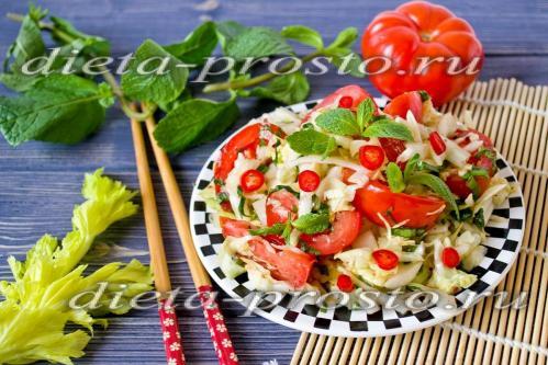 Салат из капусты диетический рецепт очень вкусный с